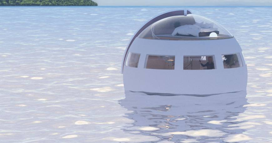 These Floating Hotel Rooms Carry You To Different Islands