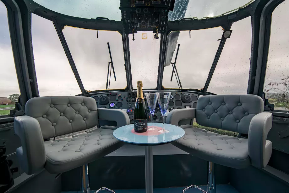 You Can Now Go Glamping Inside A Helicopter