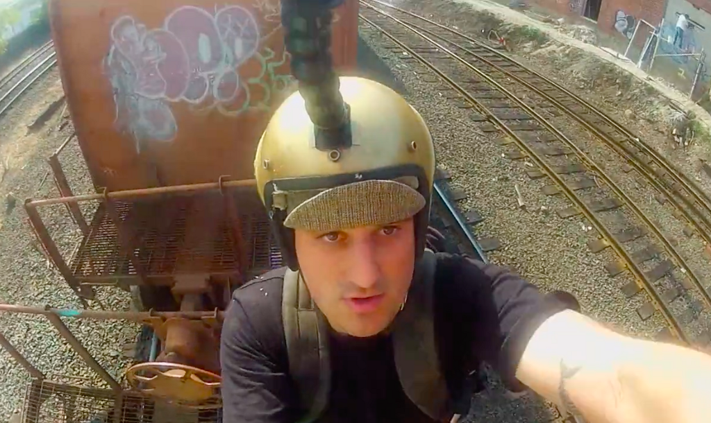 Man Tries (And Fails) To Hop A Freight Train, Records Adventure