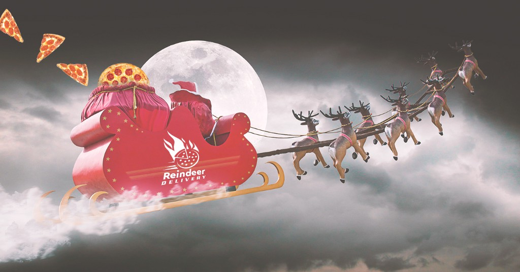 These Reindeer May Deliver Pizza—Glory Hallelujah