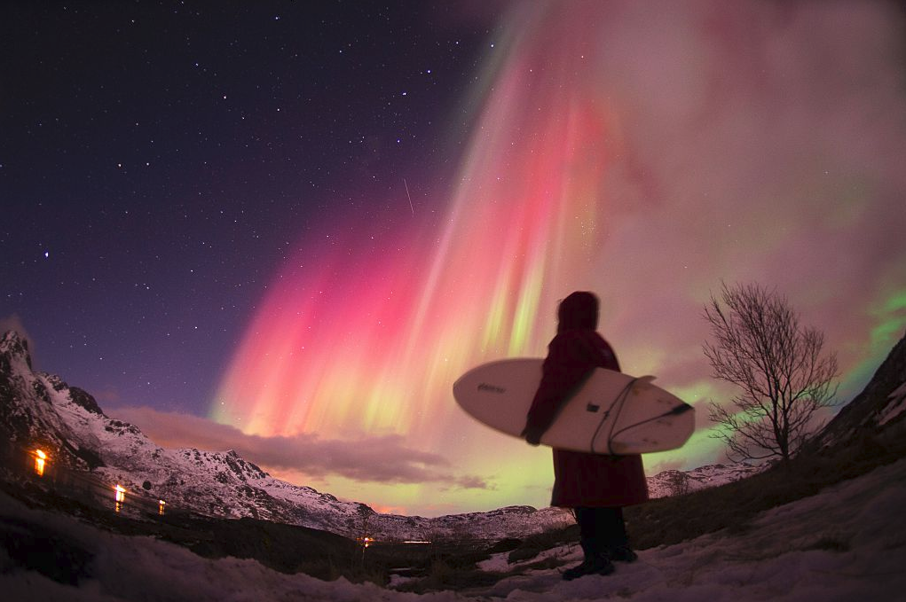 Now You Can Hang Ten Under The Northern Lights