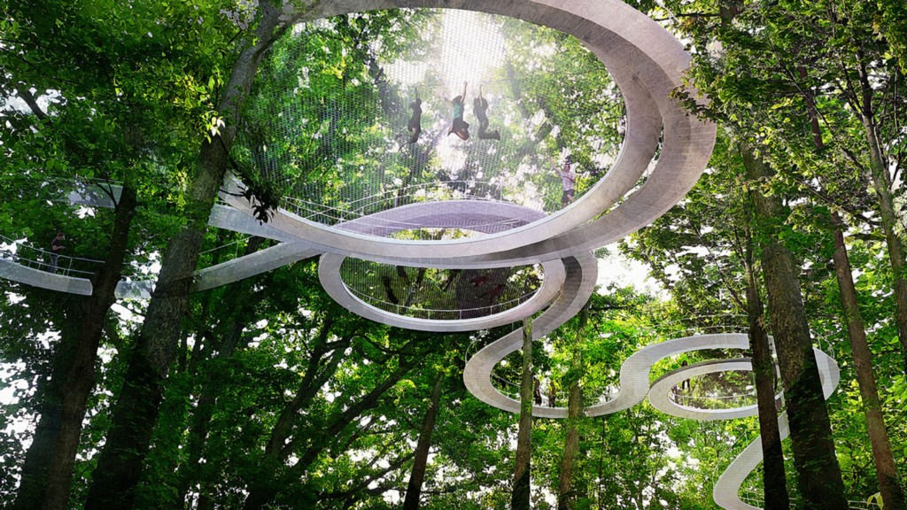 This Treetop Trampoline Park Is A F*cking Glorious Adult Playground